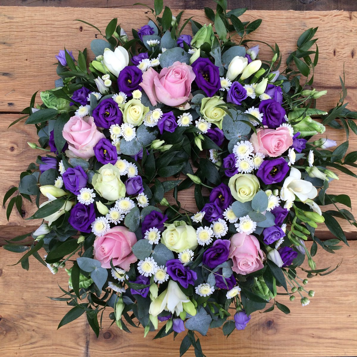Hannah rose flowers hroseflowers twitter sympathy wreath for a lady that loved pink and purple funeralflowers flowers arrangement florist hampshirepicitterj6pejqxp4o izmirmasajfo Images