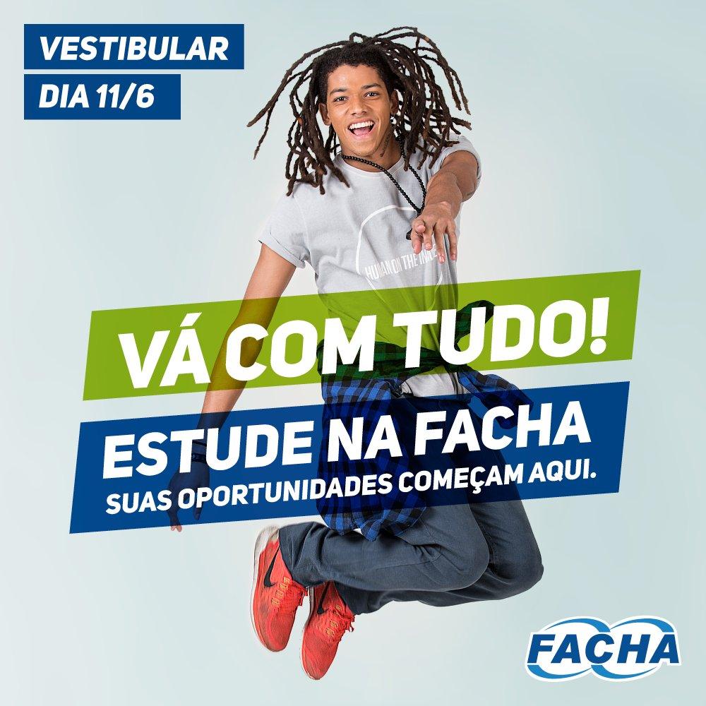 Chegou a hora de você ir com tudo! Inscreva-se em nosso #VestibularFacha!  #InscriçõesAbertas #VáComTudoFACHA https://t.co/jIY9lzHCrY