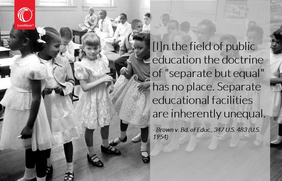 Brown vs. Board of Education, declaring racially segregated schools unequal, was decided by SCOTUS today in 1954 https://t.co/yOO4RDJo6n