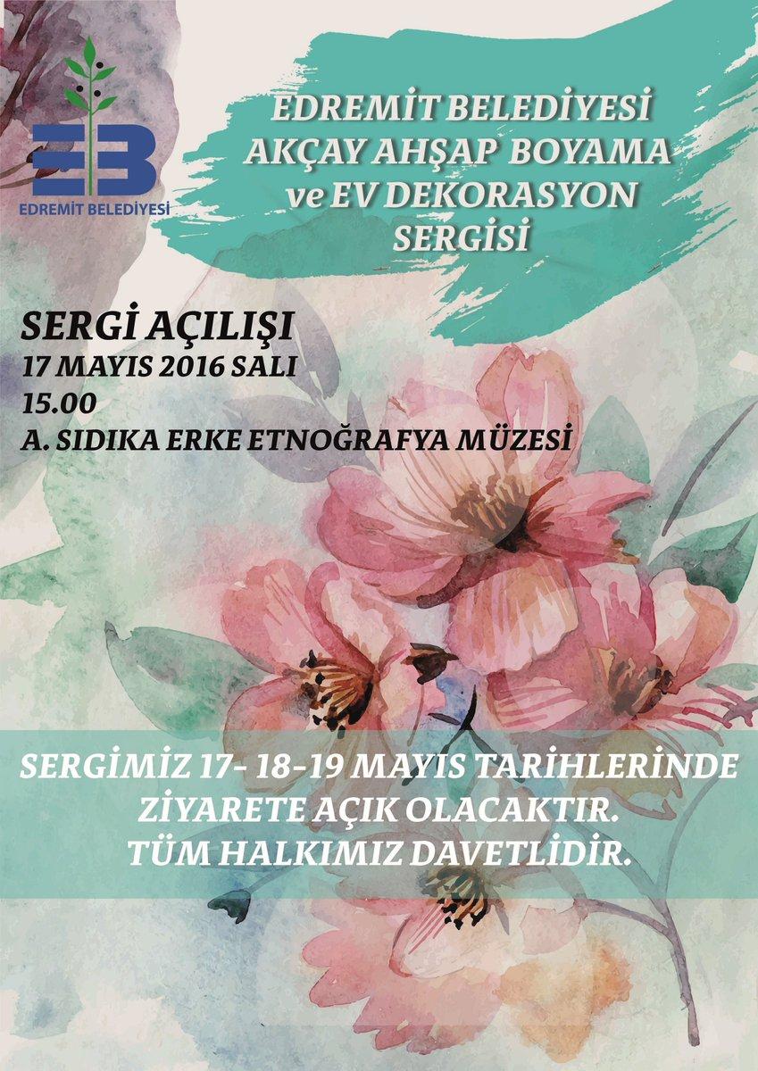 Edremit Belediyesi على تويتر Davet Edremit Belediyesi Akçay Ahşap