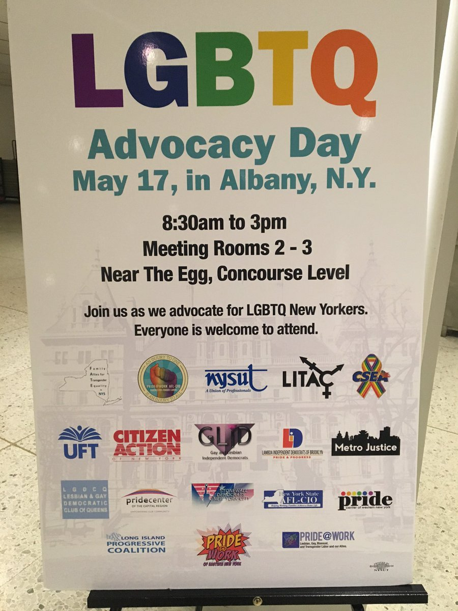 In Albany for #LGBTQ Advocacy Day, fighting for #GENDA, the Child-Parent Security Act, & banning conversion therapy. https://t.co/n8dpV2Ksnj