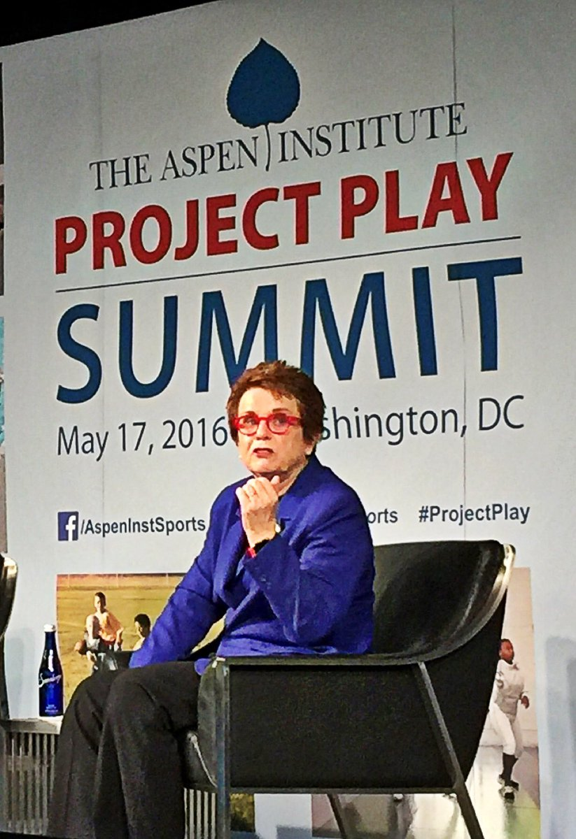 Billie Jean King: Sports is powerful in teaching you self-awareness, resilience and being resourceful. #ProjectPlay https://t.co/Dh4dVf62cc
