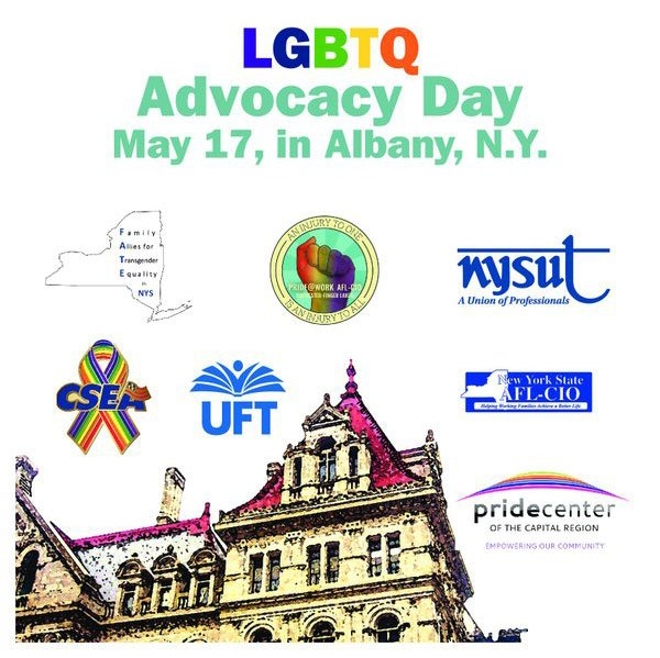 NYSUT activists are in Albany today to lobby state lawmakers on LGBTQ issues https://t.co/LHBp9a8s6j @LGBTQNYSUT https://t.co/9USvnN6bST