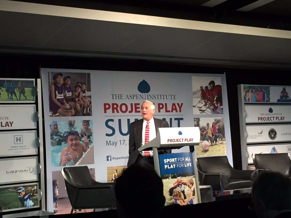 .@WalterIsaacson kicks off #ProjectPlay Summit: @AspenInstSports is about ensuring everyone gets the chance to play! https://t.co/3Lp6V1Siq0