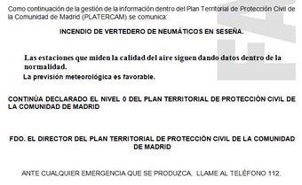 Vost Madrid On Twitter Seseña Desde My112 Se Informa A Las 31