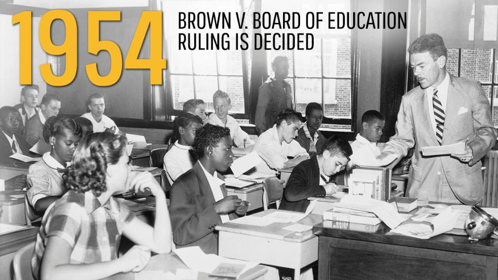 brown v board of education 1954 Chief justice warren delivered the opinion of the court these cases come to us from the states of kansas, south carolina, virginia, and delaware.