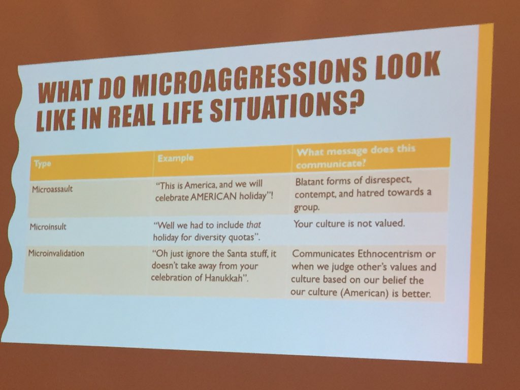 What do microaggressions look like in everyday life? #njla16 https://t.co/xZh9OM4yxA