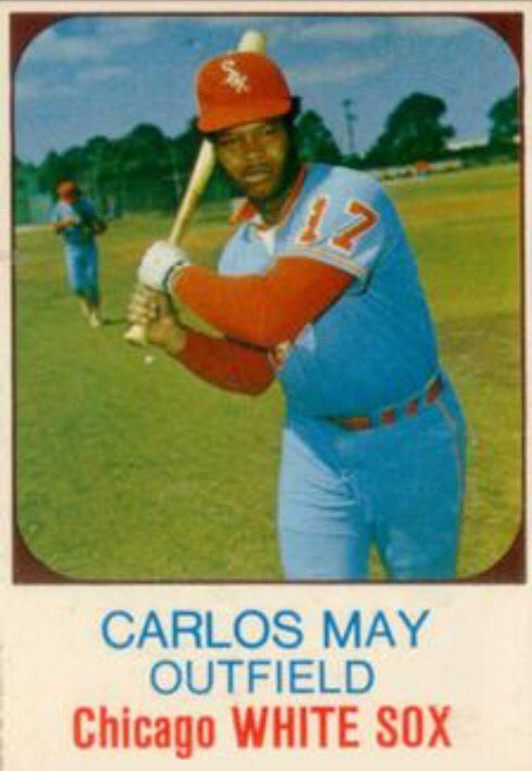 Happy #CarlosMay Day @whitesox fans. Sox great CarlosMay is the only @MLB player to wear his birthday on his back https://t.co/4ZzMuNGHW3