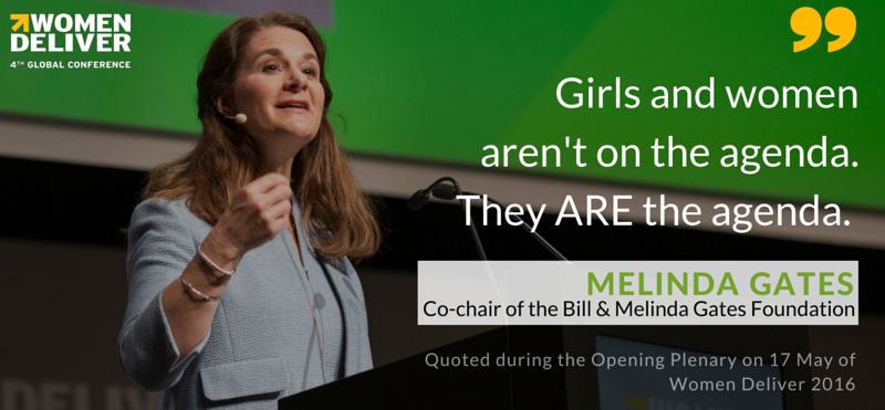 """Girls aren't on the agenda, they ARE the agenda."" dynamic words from @melindagates that deserve repeating. #WD2016 https://t.co/tEaD0U575M"