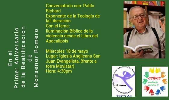 "FUNDAHMER on Twitter: ""Invitamos conservatorio c PABLO RICHARD, teólogo d  la liberación, mañana miércoles, Iglesia S Juan Evangeli, 4.30 pm… """