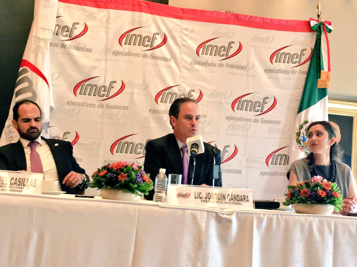 """Conferencia de prensa del @IMEFOficial: """"Oleada de volatilidad afectará mercados financieros internacionales"""". https://t.co/7L11jQqecC"""