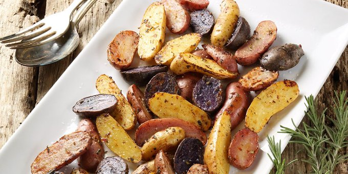Roasted Heirloom Fingerling Potatoes