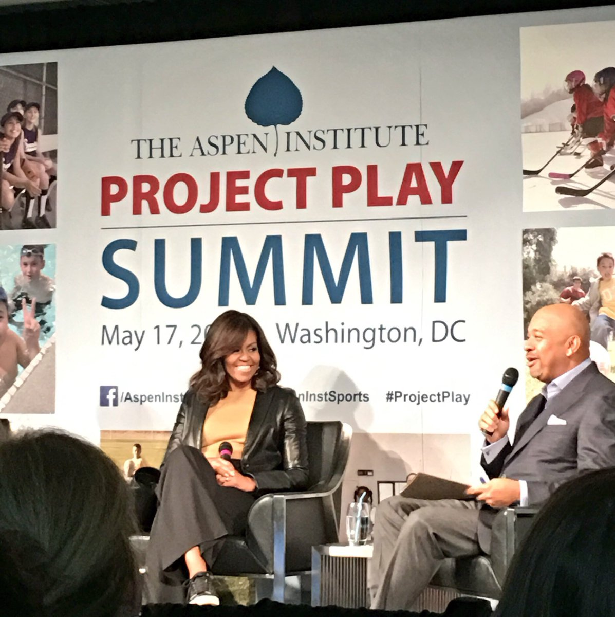 Loved hearing from @FLOTUS at the #ProjectPlay Summit! Such a great role model and advocate for healthy lifestyles. https://t.co/kwDp6qdDVS