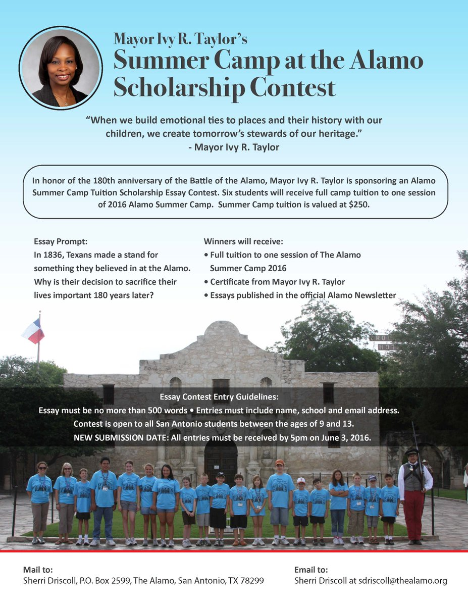 essays on the alamo Essay of the alamo the alamo is about the battle for san antonio in 1835 the siege of bexar (san antonio) became the first major campaign of the texas revolution.
