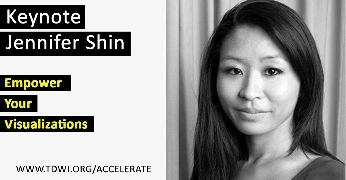 What makes a #data visualization powerful? Keynote Jennifer Shin explores @Accelerate https://t.co/6wTFudialq https://t.co/jNFzzD4fjP