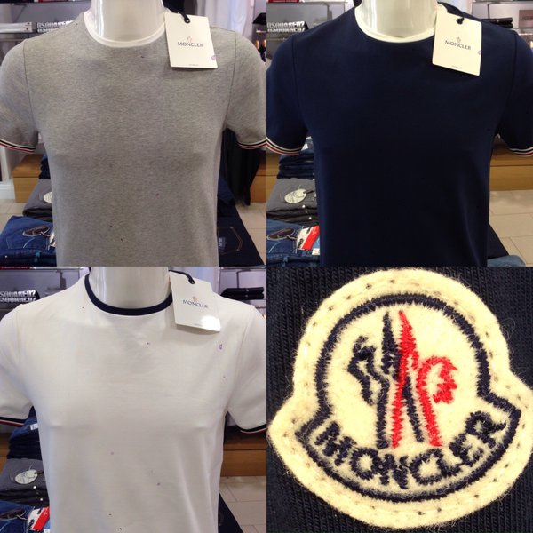 plain black moncler t shirt
