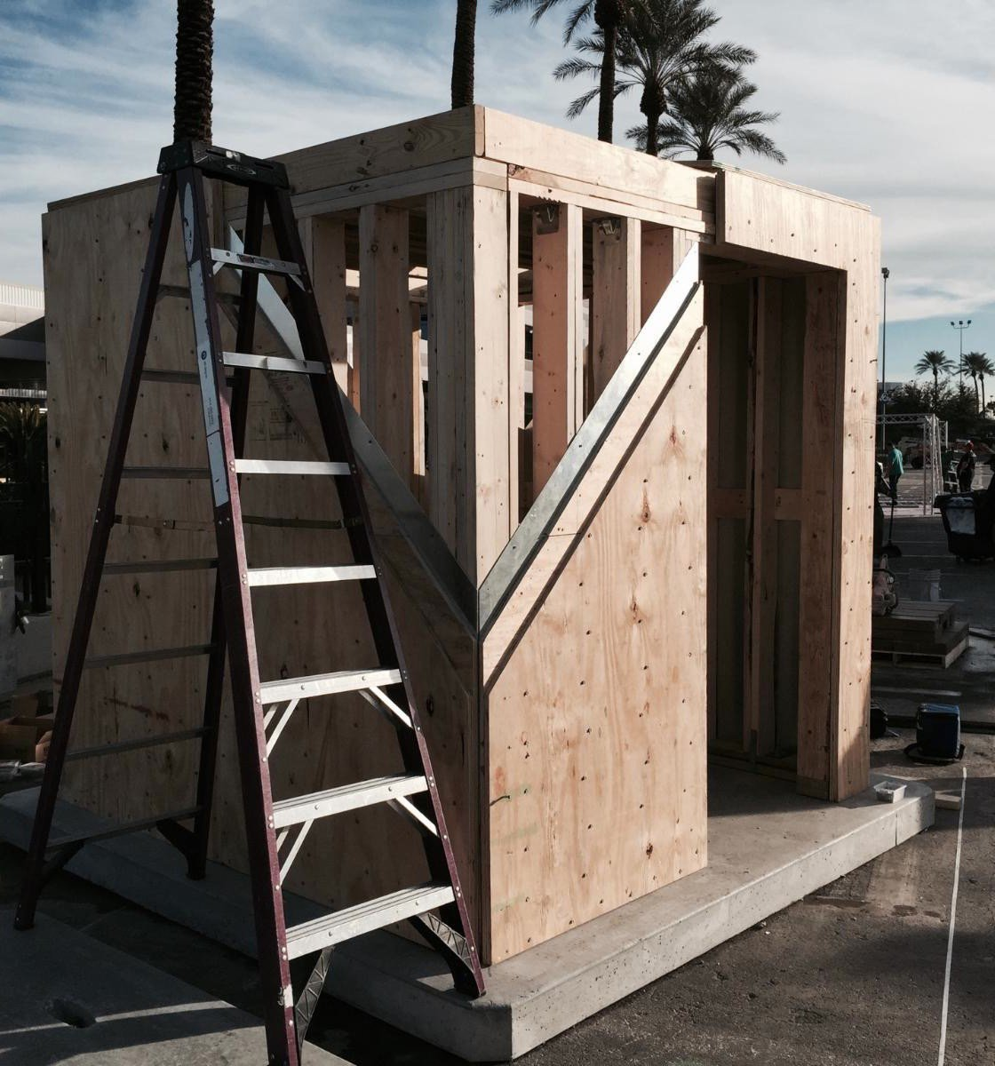 A2: AWC displayed a @FEMA approved safe room made out of wood at the International Builders Show #AWCResilienceChat https://t.co/S3HF6HFZhD
