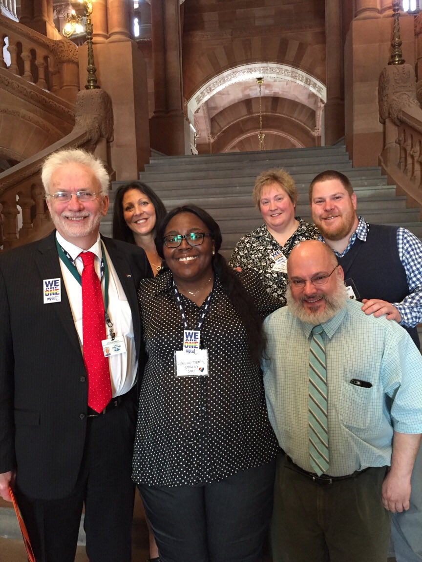Such a pleasure to meet Terri Cook @alliesandangels to lobby w/ us for #LGBTQ rights for ALL New Yorkers #GENDAnow https://t.co/Syhi6cCIVw