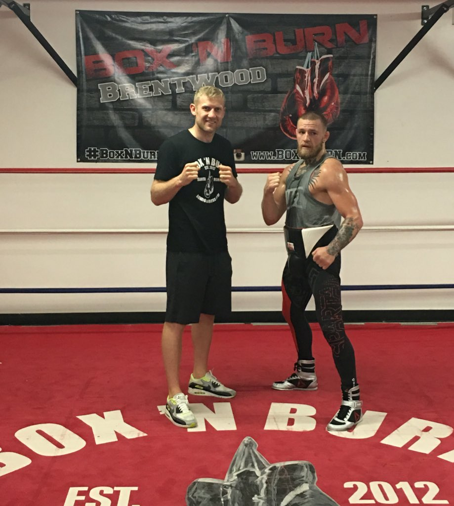 Great to have @TheNotoriousMMA in @BoxNBurn today sparring-   Wow this guy can box like fu*k