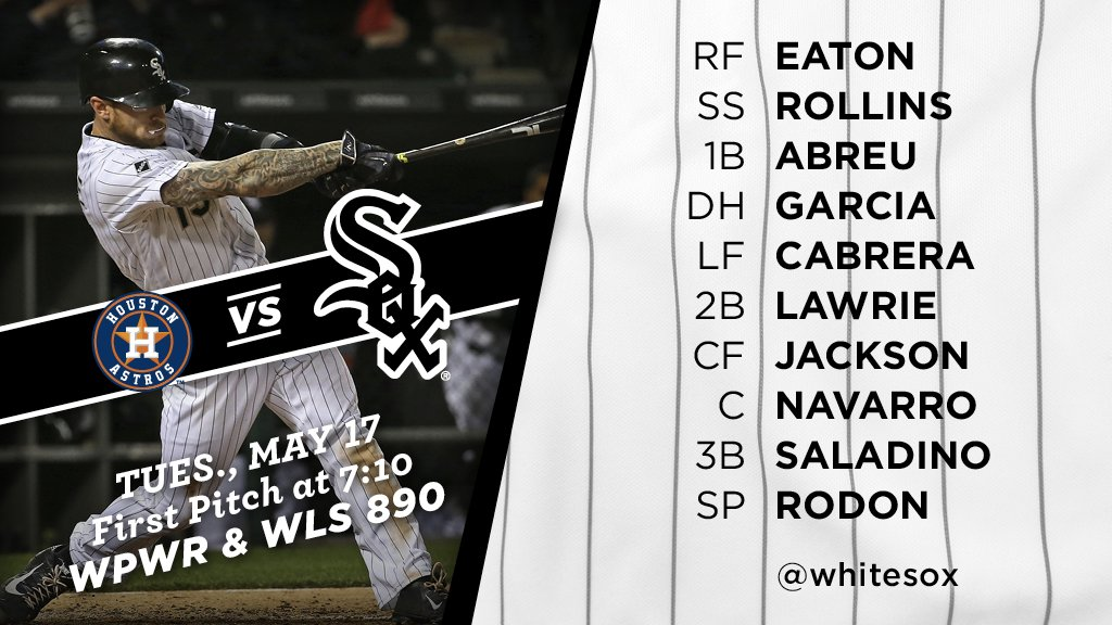 We're back home tonight for Game 1 of a three-game series vs. Houston. Tonight's #SoxGameDay starters: https://t.co/gM8e1ENuHP