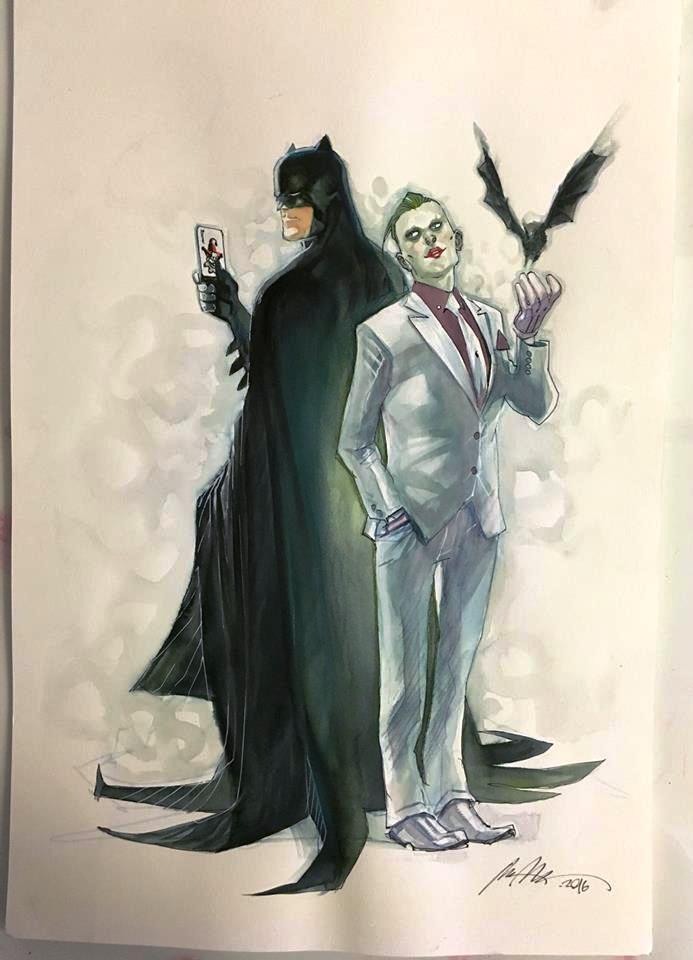 Batman (DC Rebirth) no.1 Variant Cover Original Art by @rafaalbuquerque! https://t.co/sFWsv19gWQ https://t.co/rJ6ztHaHBd