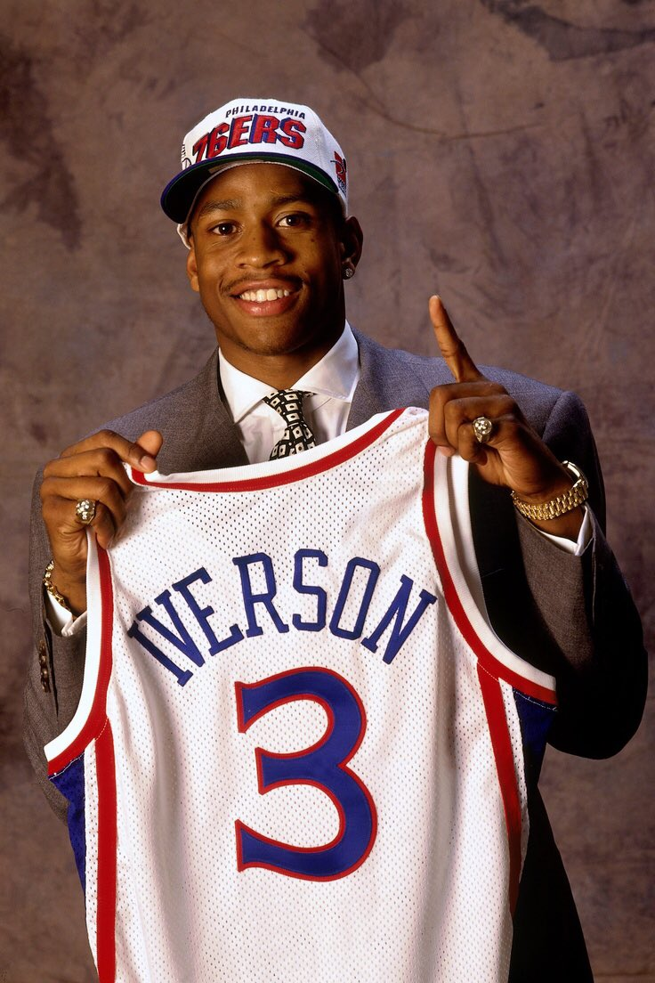 The last time the @Sixers had the number 1 pick they made a pretty good selection. @alleniverson  #NBADraftLottery