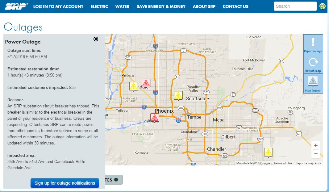 Srp Outage Map Latest News Breaking Headlines And Top Stories