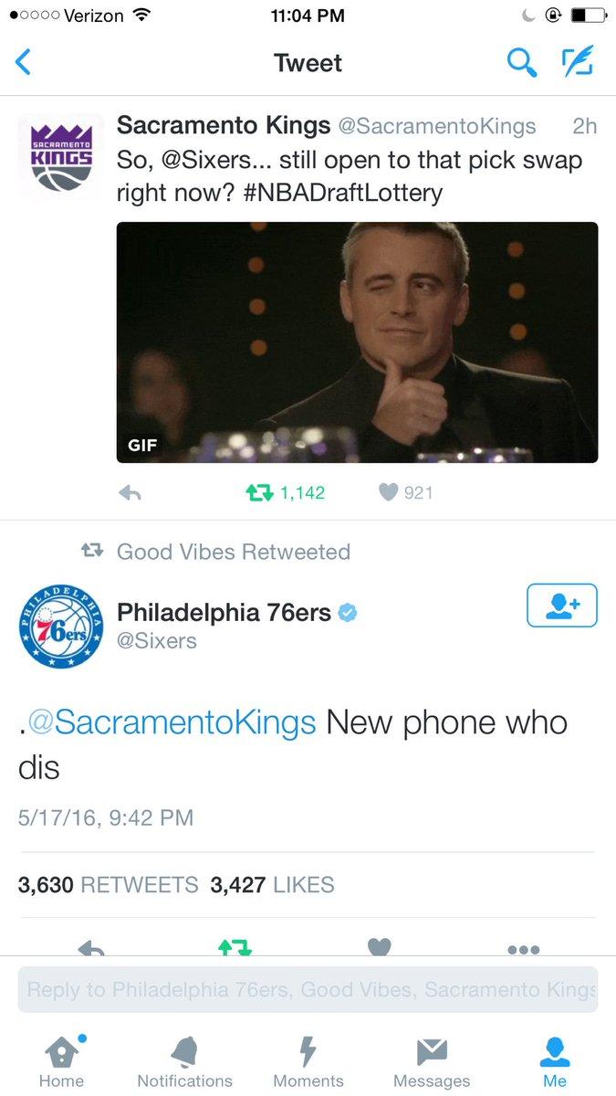 Philadelphia 76ers On Twitter At Sacramentokings New Phone Who Dis