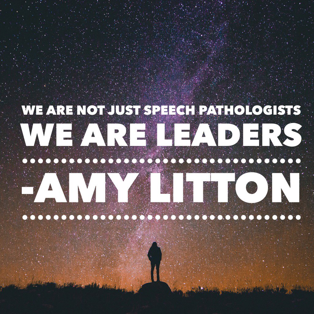 We are not just Speech Pathologists.  We are leaders #spaconf https://t.co/HdEM5SD3bM