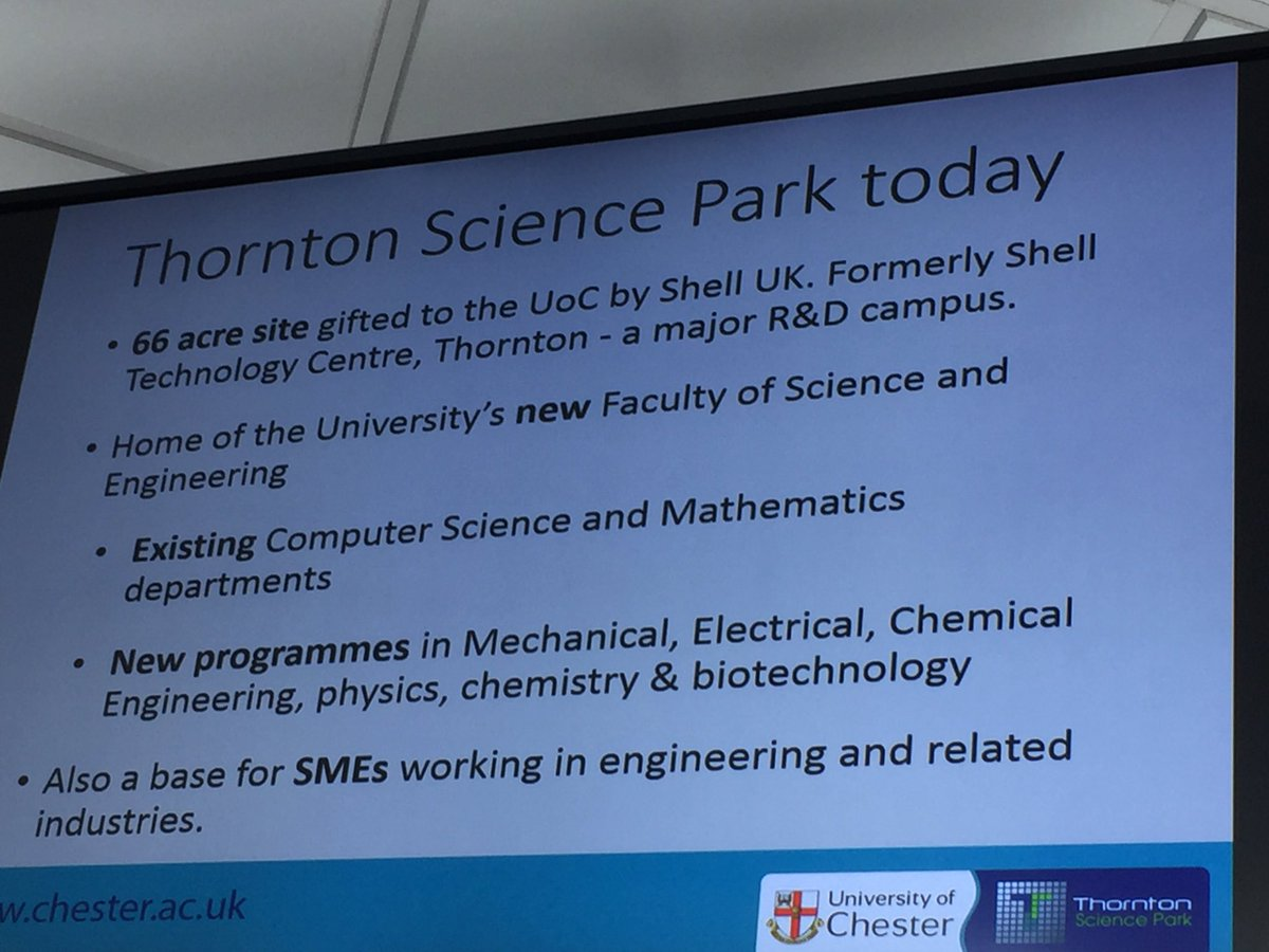 UofChester Thornton Science Park today... #ustlg https://t.co/wKUUfJ2hPR