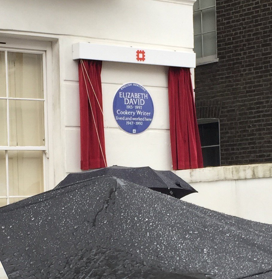 And here it is! The blue plaque for Elizabeth David. https://t.co/PhdHsqjdZo