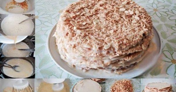 торт наполеон пошагово с фото