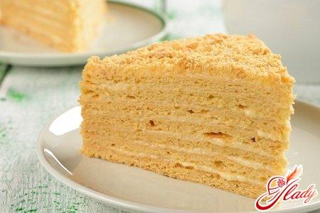 Торт наполеон со сгущенкой рецепт с фото пошагово