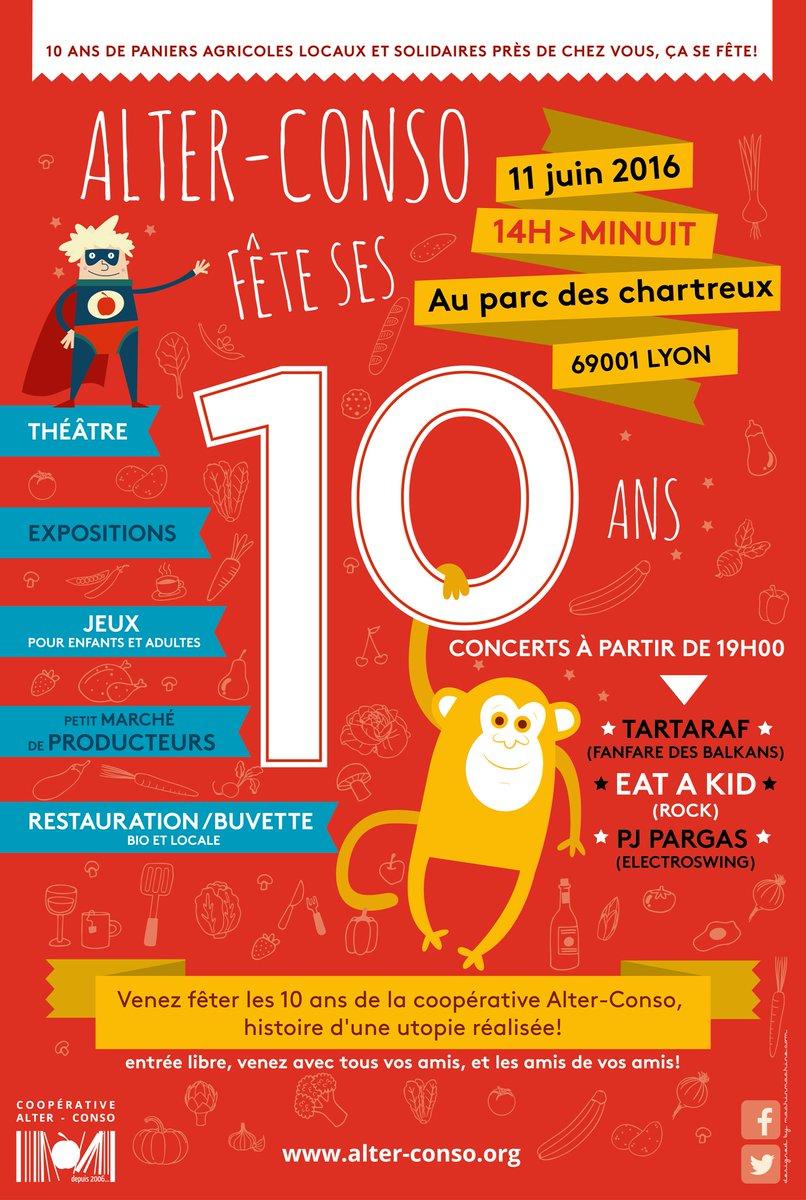 Affiche 10ans Alter-Conso Lyon