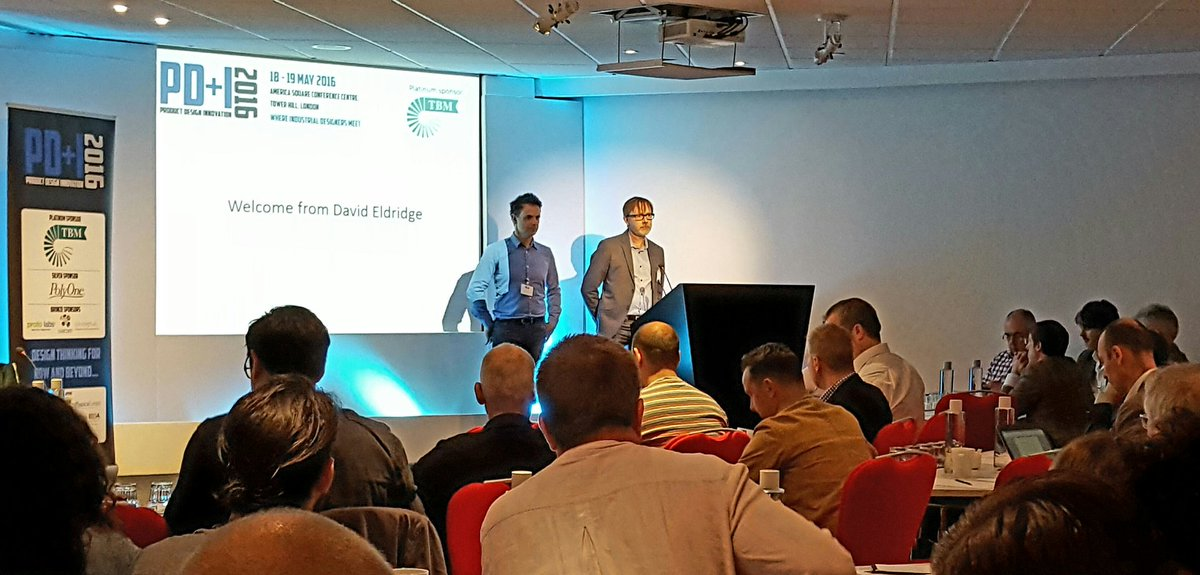 Chris Lefteri and PNE's editor David Eldridge open the conference @ #pdesigni #design https://t.co/0wGHoRCLVA