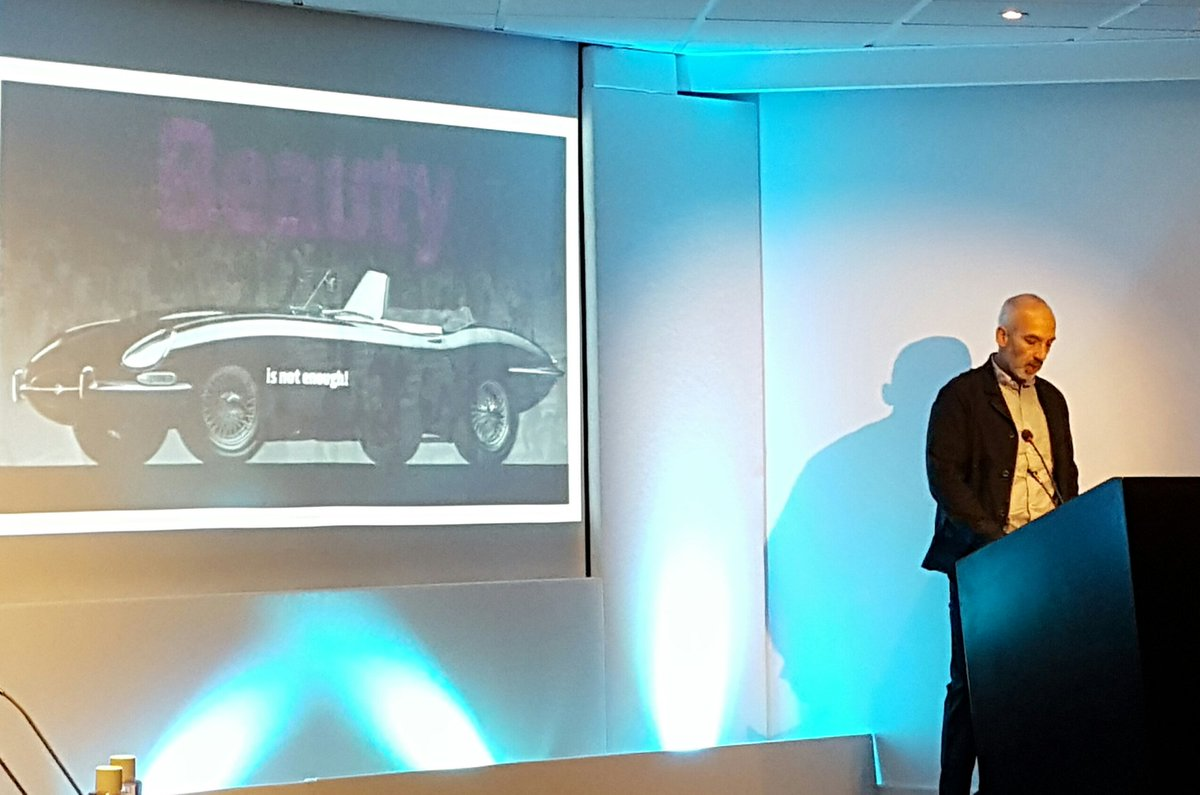 """Beauty is not enough"" when it comes to the #design of autonomous products - Gadi Amit @NewDealDesign #pdesigni https://t.co/0ju7scSKBm"