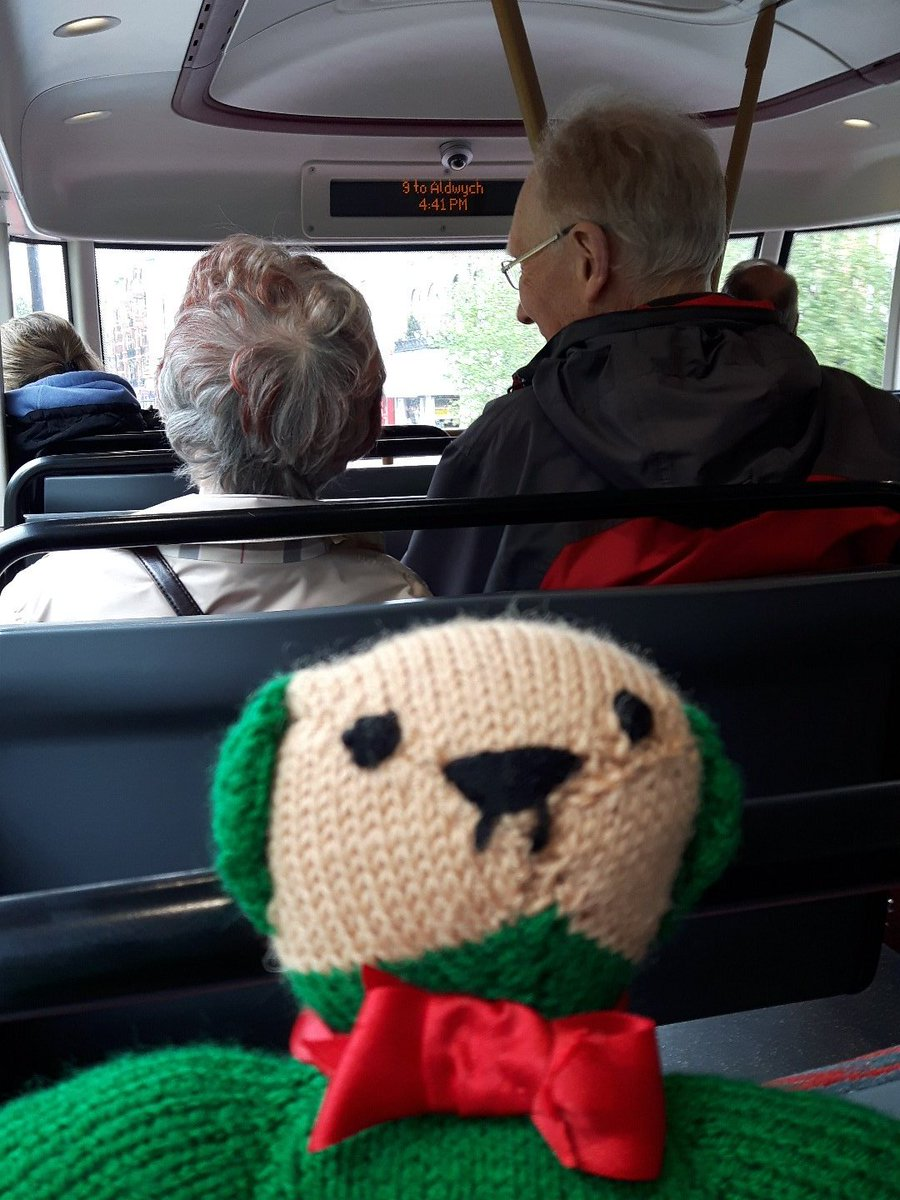 @CoffinWorks #newmanbear is on No.9 #Heatherwick #bus to Aldwych. He loves the #styling but misses the #Routemaster! https://t.co/cmttCyZCdK