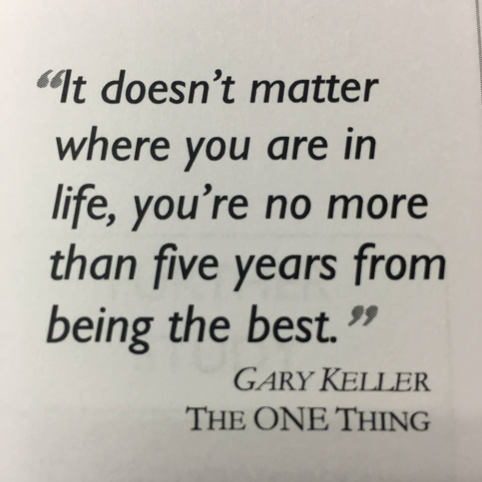 Love this quote from Gary Keller.  #TheOneThing #kwri https://t.co/689N1ogRt0