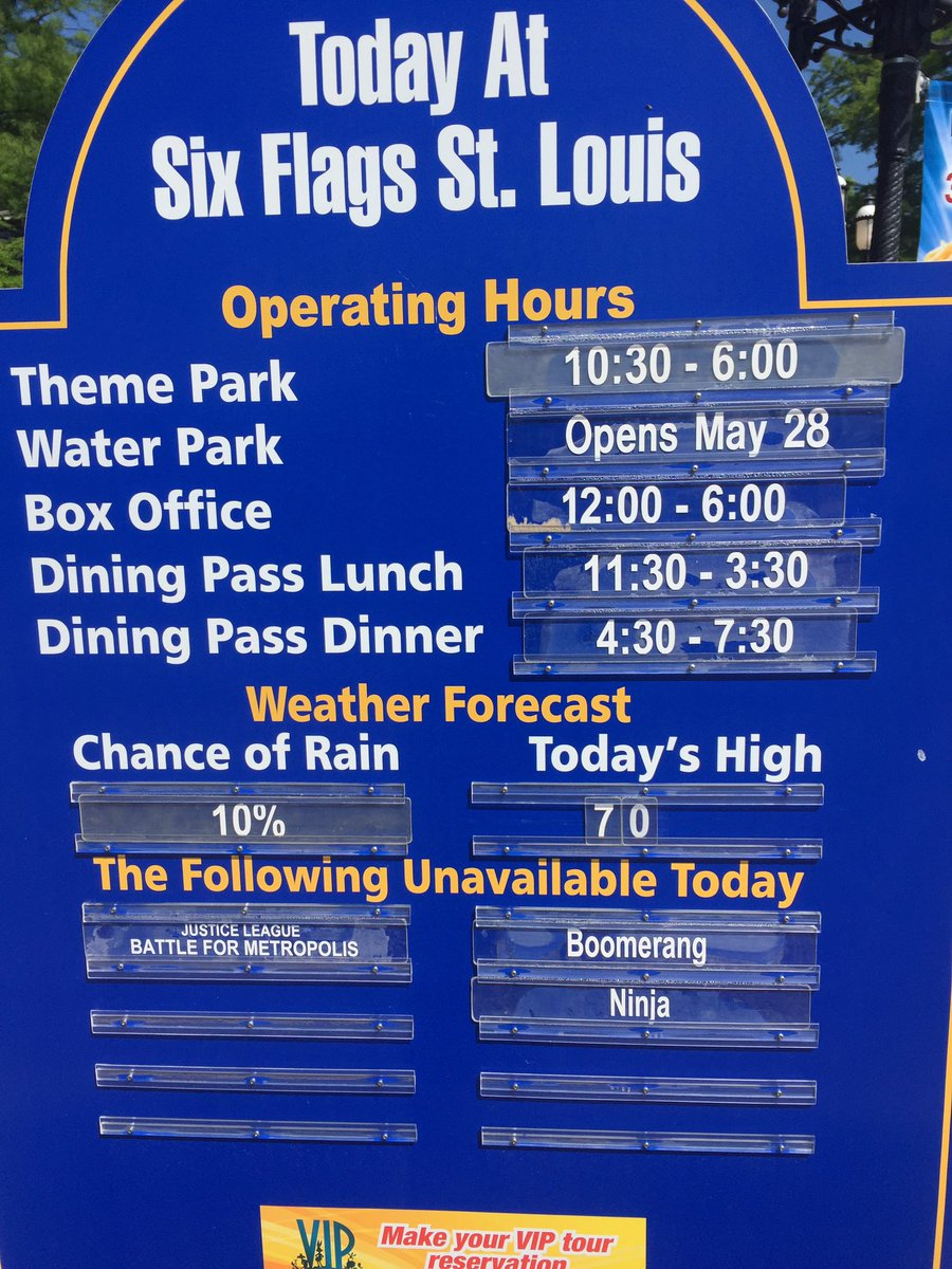 six flags st louis on twitter hello today at six flags st rh twitter com six flags st louis hours 2017 six flags st louis hours fright fest