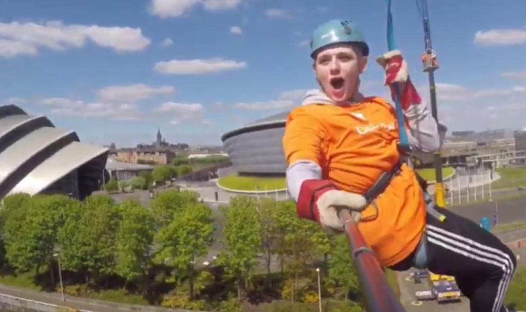 RT @ScottishSun: .@nickymcdonald1 zipwires across the Clyde in #Glasgow for charity https://t.co/7pkEn0fJHO https://t.co/iJqI4R3e0N