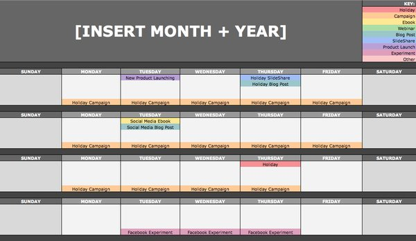Hubspot on twitter the social media content calendar template 0 replies 0 retweets 0 likes pronofoot35fo Gallery