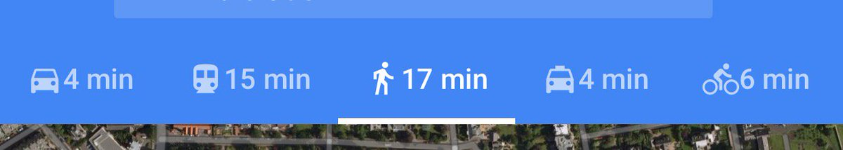Google Maps on iOS changes the walking icon to add walking poles when it goes over some length threshold. https://t.co/qre1xfAo1P