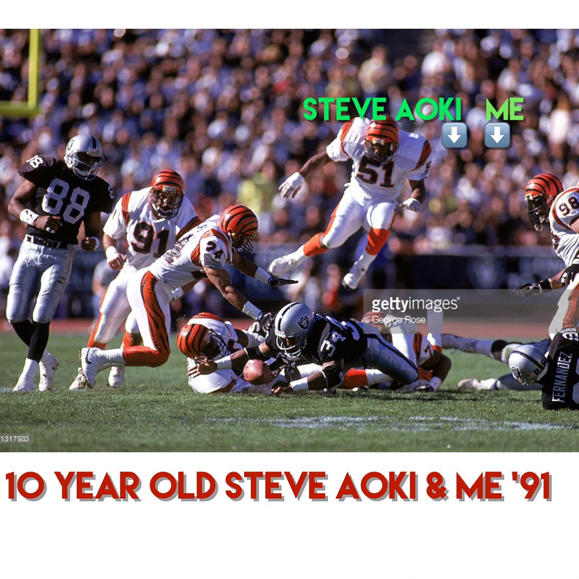 I met @steveaoki when he was 10 at Raiders/Bengals game- he said he wanted to be a comedian- I told him he should DJ https://t.co/mSn6Ih3hLC
