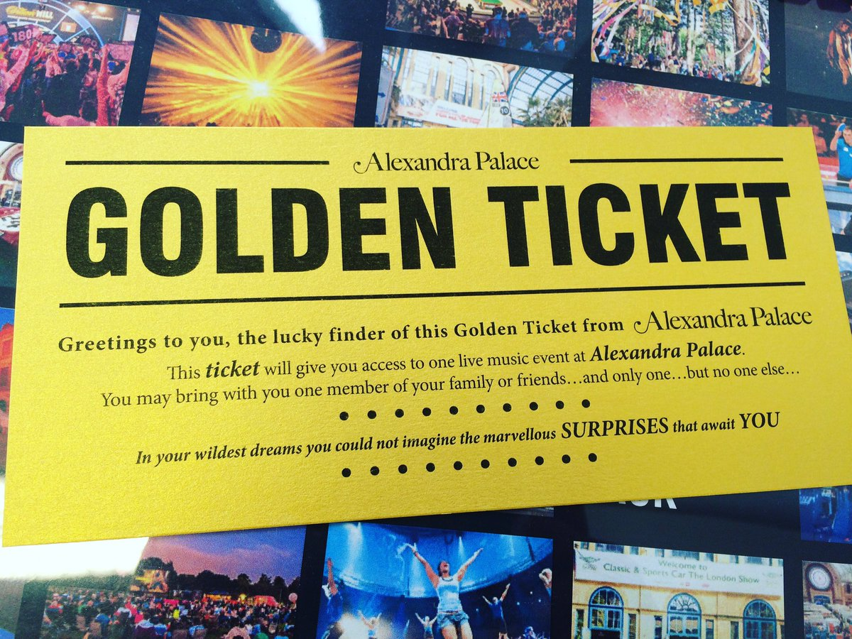 We are giving away a golden ticket to one of our 20,000 followers. RT to win