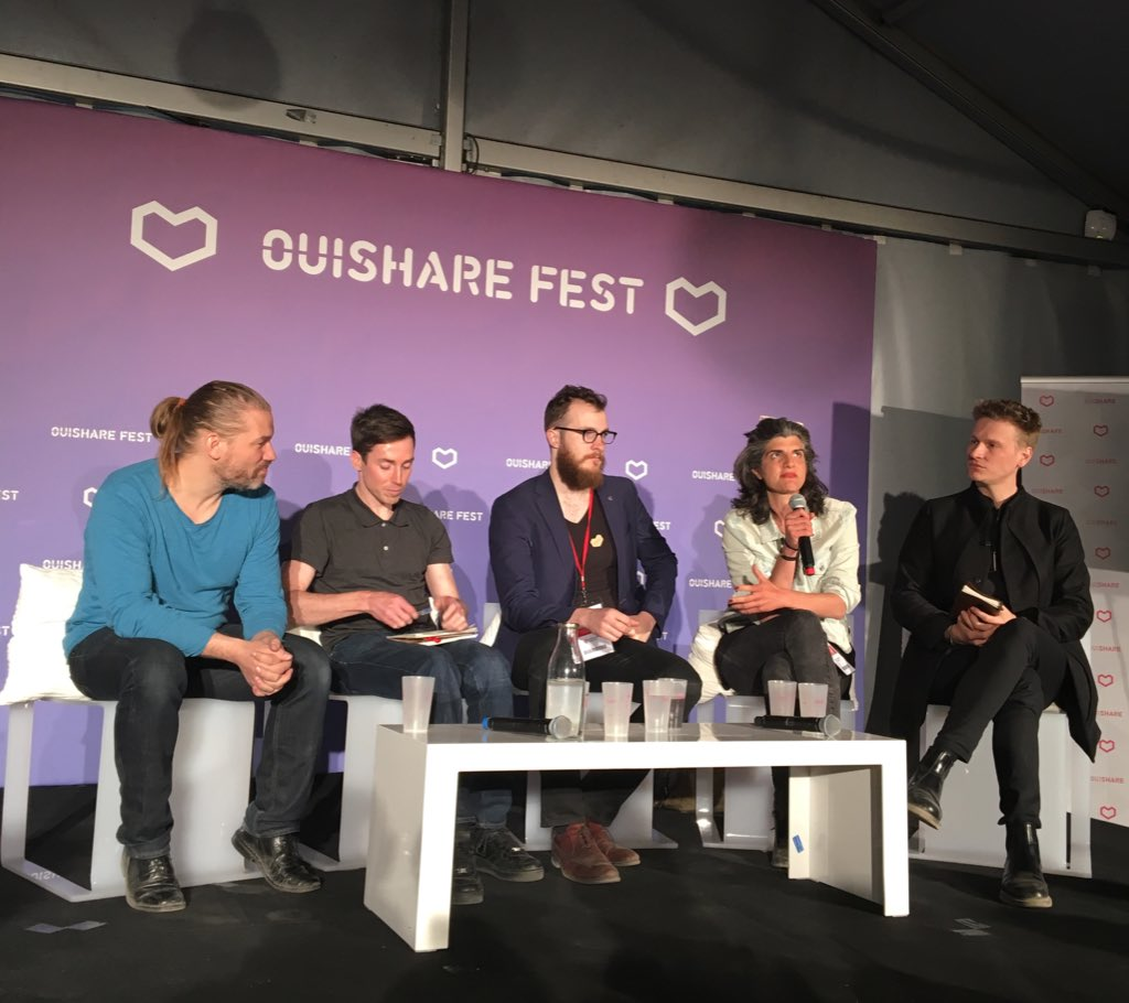 New kids on the #blockchain @OuiShareFest #OSFEST16 - 1 a former @Uber driver focused on lower cost driver solution https://t.co/S8Bc9dLvvF