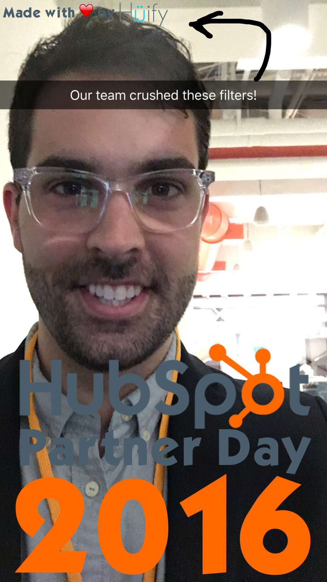 These snapchat filters are so good! Great job @TeamHuify