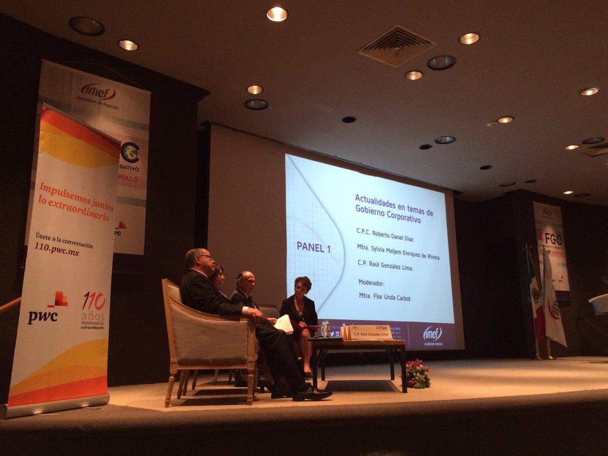 """Iniciando 4o. Foro de Gobierno Corporativo  @IMEFOficial @IMEF_CDMX """"Inversión y Desarrollo"""" en la BMV. https://t.co/pylHQOl0yU"""