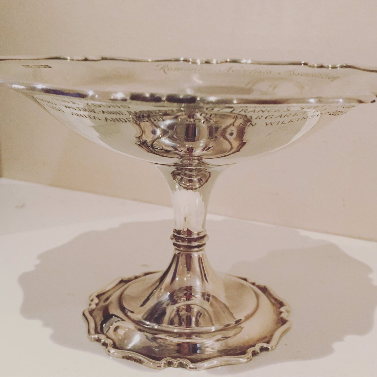 The Joan Hessayon trophy all shiny and ready for its new home tomorrow @RNAtweets #RNASummerParty #JoanHessayon https://t.co/cAO93RaQnx