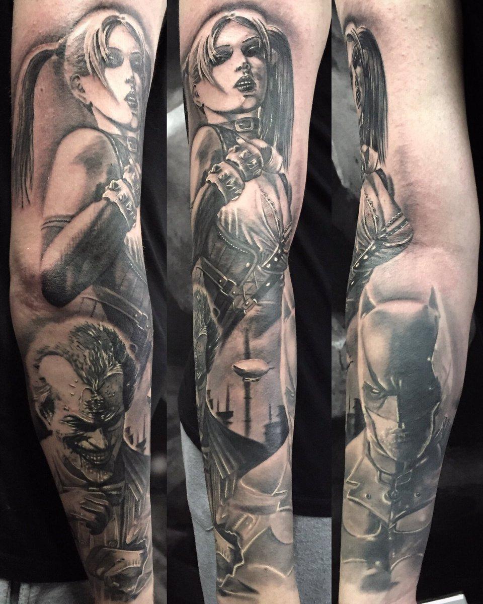 Harley Quinn And Joker Tattoo Sleeve Best Tattoo Ideas