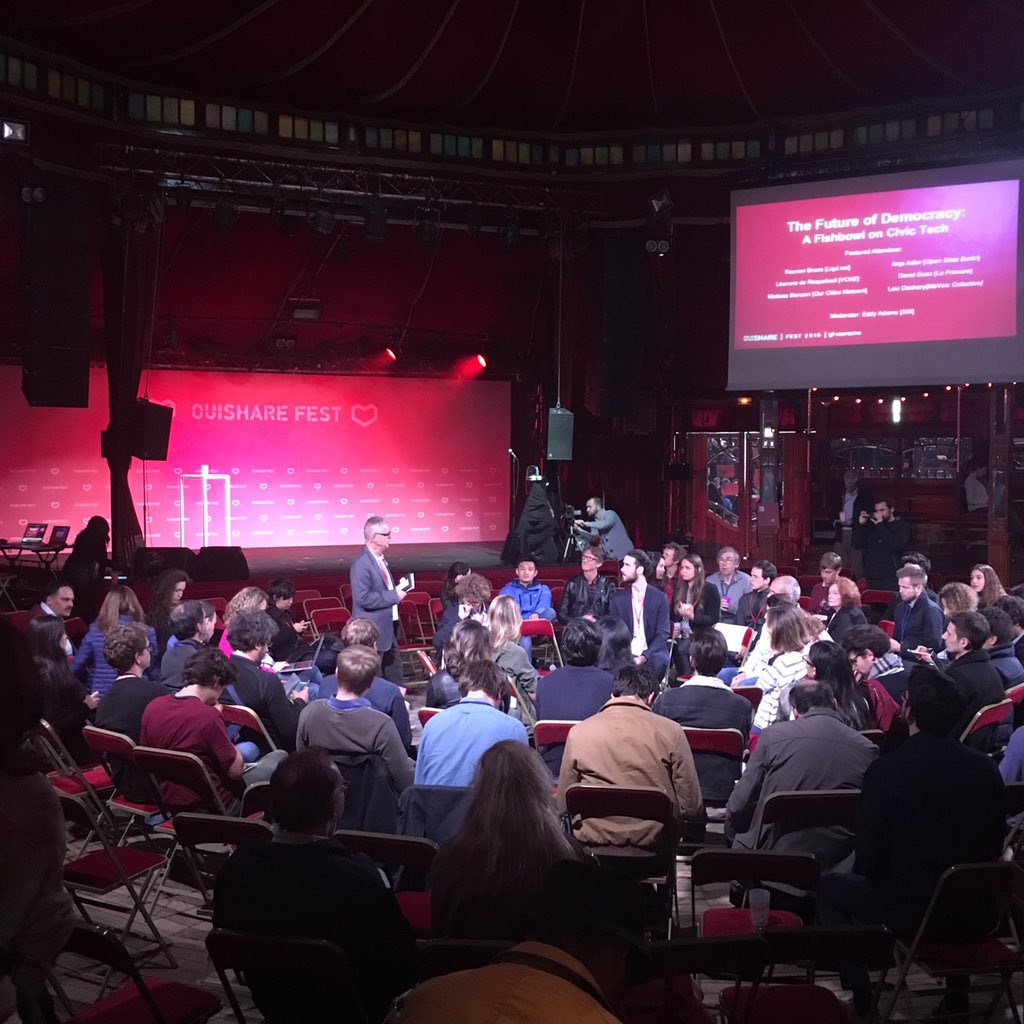 #civictech #fishball on the future of democracy starts! #OSFEST16 https://t.co/FUTZfpo6Yk